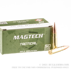 50 Rounds of .300 AAC Blackout Ammo by Magtech First Defense - 123gr FMJ