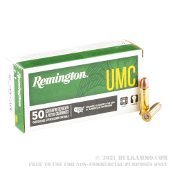 50 Rounds of .38 Spl Ammo by Remington - 130gr MC