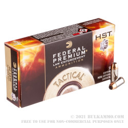1000 Rounds of .40 S&W Ammo by Federal - 165gr JHP HST