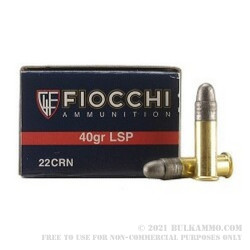 5000 Rounds of .22 LR Ammo by Fiocchi - 40gr LRN