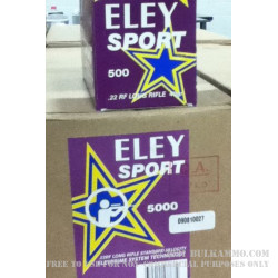 500  Rounds of .22 LR Ammo by Eley Sport - 40gr LRN