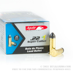 500 Rounds of .22 LR Ammo by Aguila Super Quiet - 20gr LRN