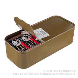 9mm Rounds of 9mm Ammo in Spam Can by Wolf - 115gr FMJ