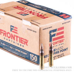 600 Rounds of 5.56x45 Ammo by Hornady Frontier - 62gr SP