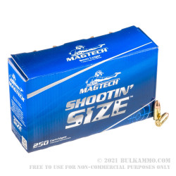 250 Rounds of 9mm Ammo by Magtech - 115gr FMJ