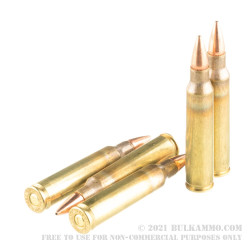 20 Rounds of 5.56x45 Ammo by Hornady Frontier - 55gr HP Match