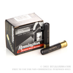 """15 Rounds of .410 Ammo by Remington Home Defense - 2-1/2"""" - 000 Buck - 4 Pellets"""