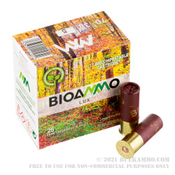 250 Rounds of 12ga Ammo by BioAmmo Lux Lead - 1-3/16 ounce #5 shot