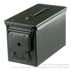 1 Brand New Mil-Spec .50 Cal M2A1 Green Ammo Can