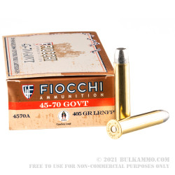 20 Rounds of .45-70 Ammo by Fiocchi - 405gr LRN FP