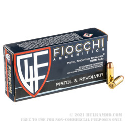 50 Rounds of 10mm Ammo by Fiocchi - 180gr FMJTC