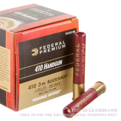 """20 Rounds of .410 3"""" Ammo by Federal -  000 Buck"""