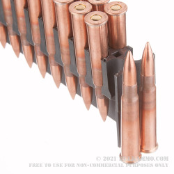 20 Rounds of .303 British Ammo by Wolf WPA - 174 grain FMJ