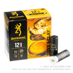 25 Rounds of 12ga Ammo by Browning - 1-1/8 Ounce #7.5 Shot