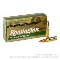 200 Rounds of .308 Win Ammo by Remington - 168gr HPBT MatchKing