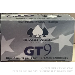 200 Rounds of 12ga Ammo by Black Aces Tactical - 1 ounce Rifled Slug
