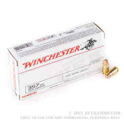 500 Rounds of .357 SIG Ammo by Winchester USA - 125gr FMJ