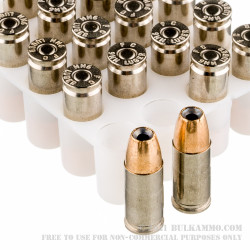 20 Rounds of 9mm Ammo by Federal Hydra Shok - 124gr JHP