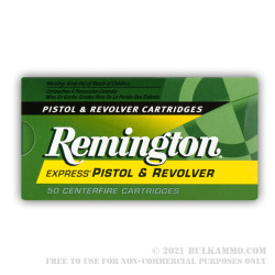 50 Rounds of .357 Mag Ammo by Remington - 110gr SJHP