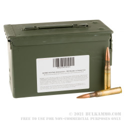 100 Rounds of .50 BMG Ammo by Lake City in Ammo Can - 660gr FMJ M33