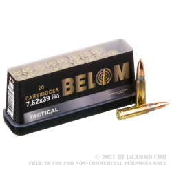 480 Rounds of 7.62x39 Ammo by Belom - 123gr FMJ