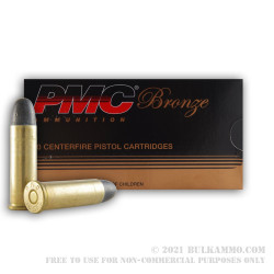 50 Rounds of .38 Spl Ammo by PMC - 158gr LRN
