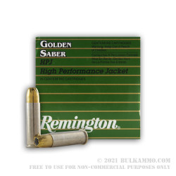 25 Rounds of .38 Spl Ammo by Remington Golden Saber - 125gr JHP
