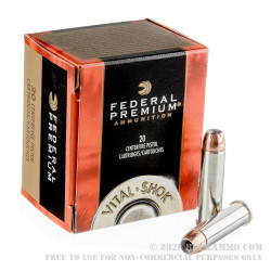 20 Rounds of .357 Mag Ammo by Federal Vital-Shok - 180gr JHP