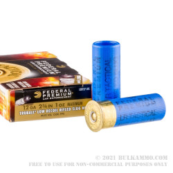 """250 Rounds of 2-3/4"""" 12ga Ammo by Federal Tactical Truball Low Recoil - 1 Ounce Rifled Slug"""