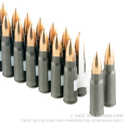 1000 Rounds of 7.62x39 Ammo by Tula - 122gr Nonmagnetic Brass FMJ