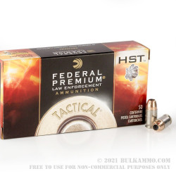1000 Rounds of .45 GAP Ammo by Federal Tactical - 230gr JHP