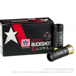 250 Rounds of 12ga Ammo by Stars & Stripes - 00 Buck