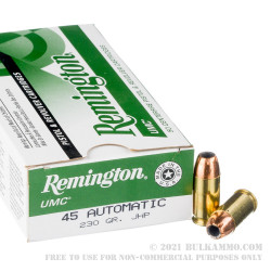 500  Rounds of .45 ACP Ammo by Remington - 230gr JHP