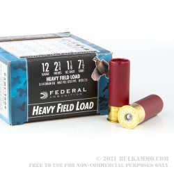 """25 Rounds of 12ga Ammo by Federal Game-Shok - 2 3/4"""" 1 1/8 ounce #7 1/2 shot"""