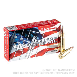 20 Rounds of .308 Win Ammo by Hornady American Whitetail - 150gr SP