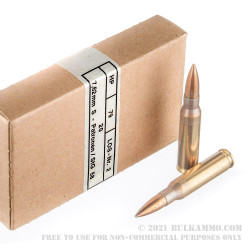 20 Rounds of Surplus .308 Win Ammo by Hirtenberger - 146gr FMJ