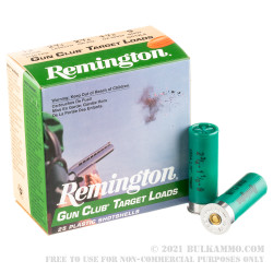 250 Rounds of 12ga Ammo by Remington - 1 1/8 ounce #9 shot
