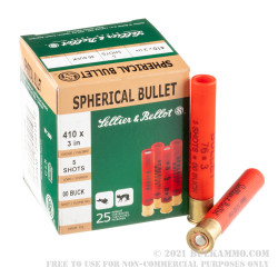 25 Rounds of .410 Ammo by Sellier & Bellot -  00 Buck