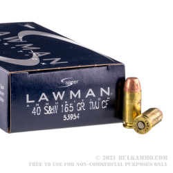50 Rounds of .40 S&W Ammo by Speer Lawman - 165gr TMJ