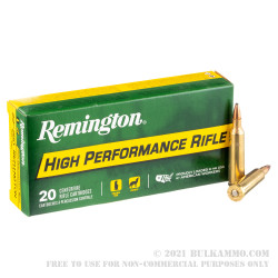 20 Rounds of .22-250 Rem Ammo by Remington - 55gr PSP