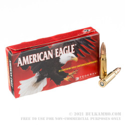 500 Rounds of 7.62x39mm Ammo by Federal - 124gr FMJ