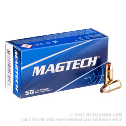 50 Rounds of 9mm Ammo by Magtech - 95gr JSP