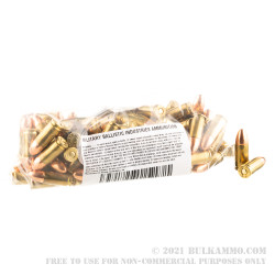 1000 Rounds of 9mm Ammo by MBI Reman - 124gr FMJ