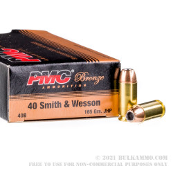 1000 Rounds of .40 S&W Ammo by PMC - 165gr JHP