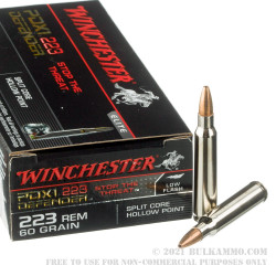 20 Rounds of .223 Ammo by Winchester PDX-1 - 60gr JHP