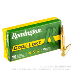 200 Rounds of .308 Win Ammo by Remington Core-Lokt - 150gr PSP