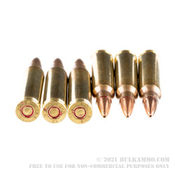 50 Rounds of 5.56x45 Ammo by Magtech - 77gr HPBT Cannelured MatchKing