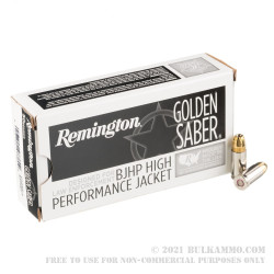 500 Rounds of 9mm + P Ammo by Remington Golden Saber - 124gr BJHP