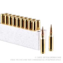 20 Rounds of 6.5 Creedmoor Ammo by Winchester USA - 125gr Open Tip