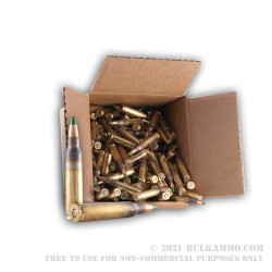 250 Rounds Loose packed of 5.56x45 Ammo by Lake City - 62gr FMJ XM855